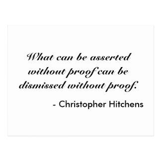 Christopher Hitchens Postkarte