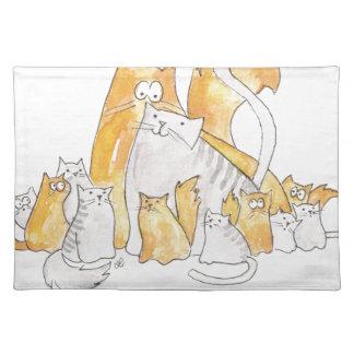 Christopher-Katze und seine erstaunliche Familie Stofftischset