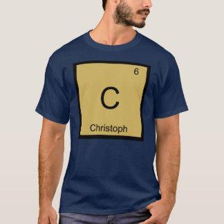 Christophnamenschemie-Element-Periodensystem T-Shirt