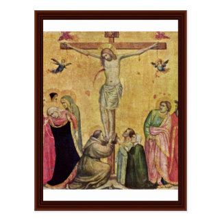 Christus auf dem Kreuz zwischen Mary und John Postkarte