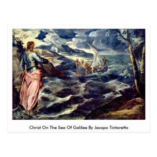 Christus auf dem Meer von Galiläa durch Jacopo Postkarte