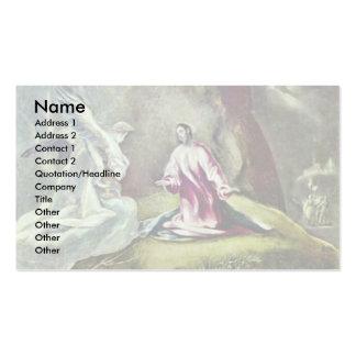Christus auf dem Ölberg durch Greco EL Visitenkarten Vorlage