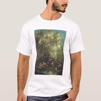 Christus beachtete durch die Engel, c.1725-30 (Öl T-Shirt