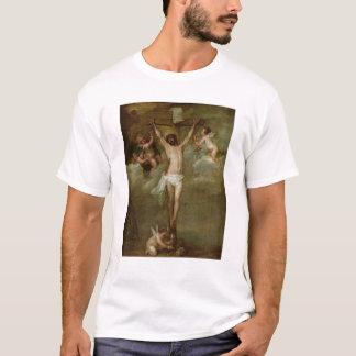 Christus beachtete durch die Engel, die Chalices T-Shirt