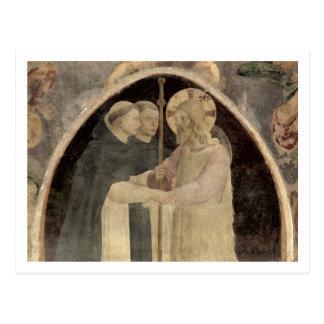Christus begrüßt zwei dominikanische Mönche, Postkarte