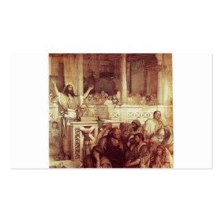 Christus, der bei Capernaum predigt. C. 1878-79 Visitenkarten