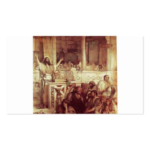 Christus, der bei Capernaum predigt. C. 1878-79 Visitenkarten Vorlagen