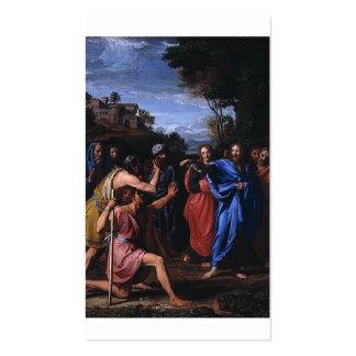 Christus, der das blinde circa 1682 heilt visitenkarten