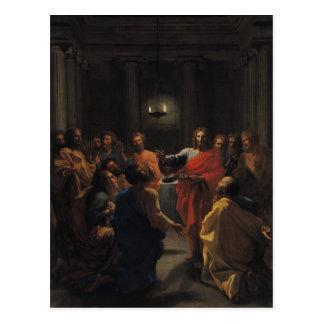 Christus, der das heilige Abendmahl einleitet Postkarten