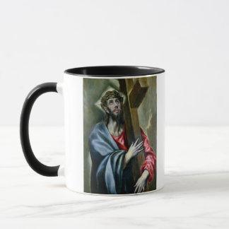 Christus, der das Kreuz, 1600-10 (Öl, umklammert Tasse