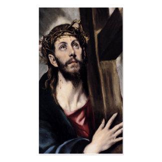 Christus, der das Kreuz circa 1580 trägt Visitenkarten