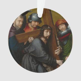 Christus, der das Kreuz, mit der Kreuzigung trägt Ornament