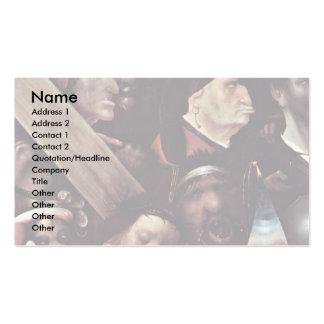 Christus, der das Kreuz trägt.  Durch Hieronymus Visitenkartenvorlagen