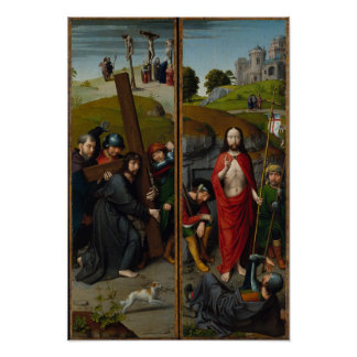Christus, der das Kreuz trägt Poster