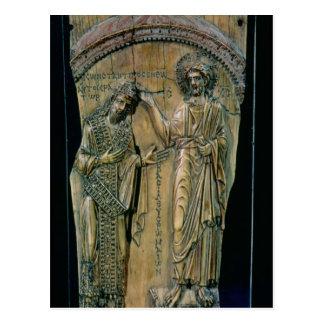 Christus, der den Kaiser Constantine VII krönt Postkarte