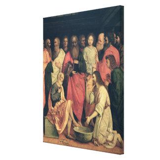 Christus, der die Füße der Schüler wäscht Leinwand Drucke