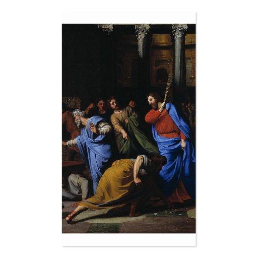 Christus, der die Geldwechsler wegtreibt Visitenkarten Vorlagen