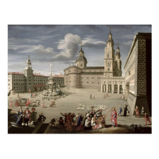Christus, der die Leute von Salzburg segnet Postkarte