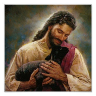 Christus Der gute Hirte Poster