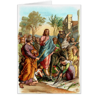 Christus, der Jerusalem betritt Karte