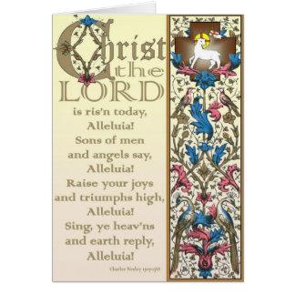 Christus der Lord ist gestiegene heute Grußkarte