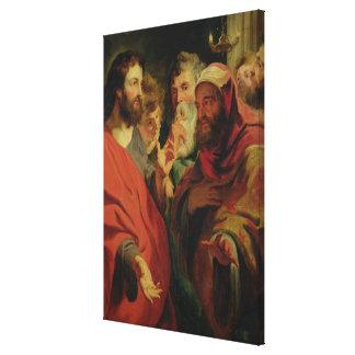 Christus, der Nicodemus anweist Gespannte Galeriedrucke