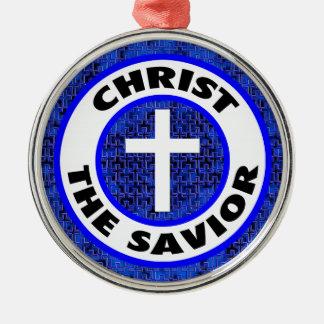 Christus der Retter Silbernes Ornament