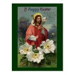 Christus der Schäfer mit Lamm Vintages Ostern Postkarte