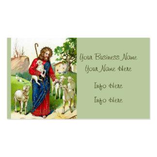 Christus der Schäfer Visitenkarten