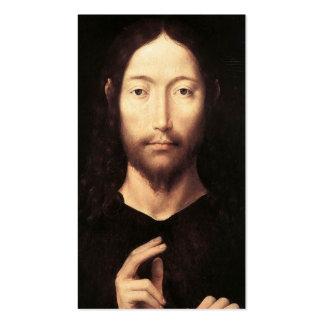 Christus, der seinen Segen, c.1478 gibt Visitenkarten