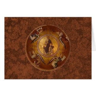 Christus die Pantakrator christliche Ikone Grußkarte