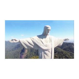 Christus die Redeemer-Leinwand 36x20 Gespannte Galeriedrucke