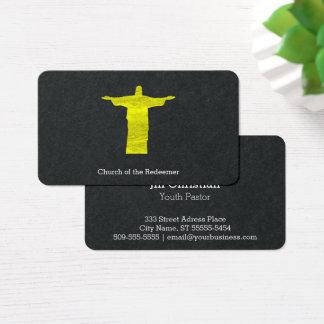 Christus die Redeemer-Silhouette Visitenkarte