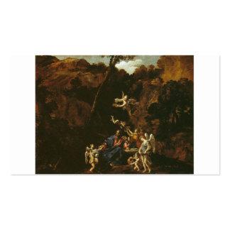 Christus diente durch Engel circa 1616 Visitenkarten