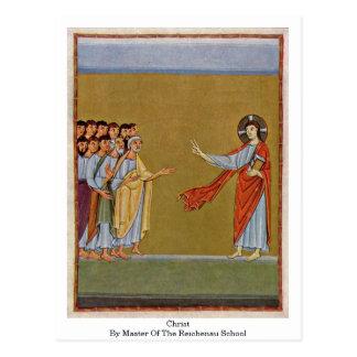 Christus durch Meister der Reichenau Schule Postkarten