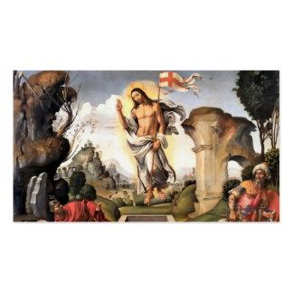 Christus gestiegen über Grab c1510 Visitenkarten