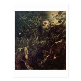 Christus im Garten von Gethsemane 2 Postkarte