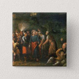 Christus im Garten von Gethsemane Quadratischer Button 5,1 Cm