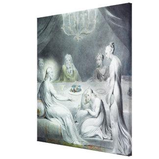 Christus im Haus von Martha und von Mary Gespannte Galeriedrucke