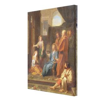 Christus im Haus von Martha und von Mary Gespannter Galeriedruck