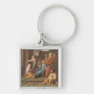 Christus im Haus von Martha und von Mary Schlüsselanhänger