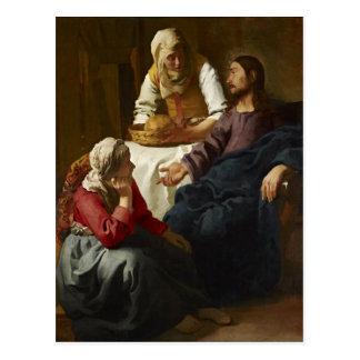 Christus im Haus von Martha und von Mary (Vermeer) Postkarte
