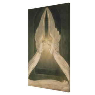 Christus im Sepulchre, geschützt durch Engel Gespannter Galeriedruck