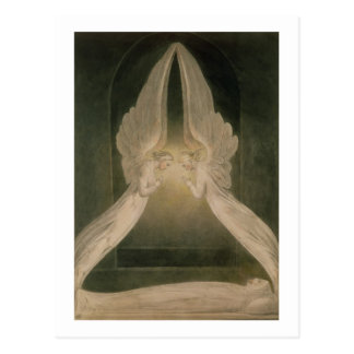 Christus im Sepulchre, geschützt durch Engel Postkarte