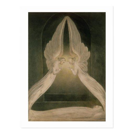 Christus im Sepulchre, geschützt durch Engel Postkarten