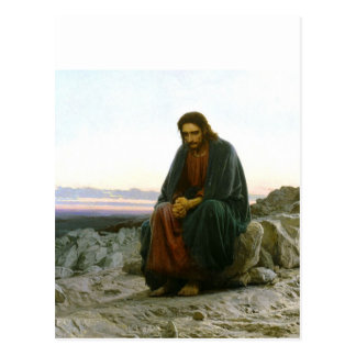 Christus in der Wüste Postkarte