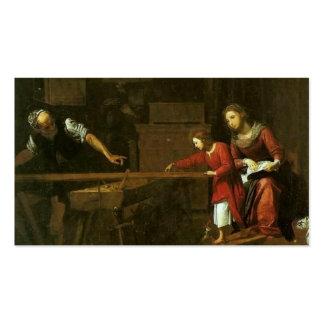 Christus in Josephs Werkstatt circa 1610-1625 Visitenkarten