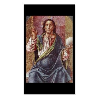 """Christus inthronisierte"" circa 1450 Visitenkarten"
