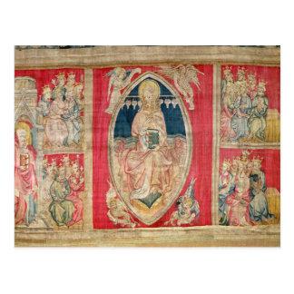 Christus inthronisierte mit den apokalyptischen postkarte