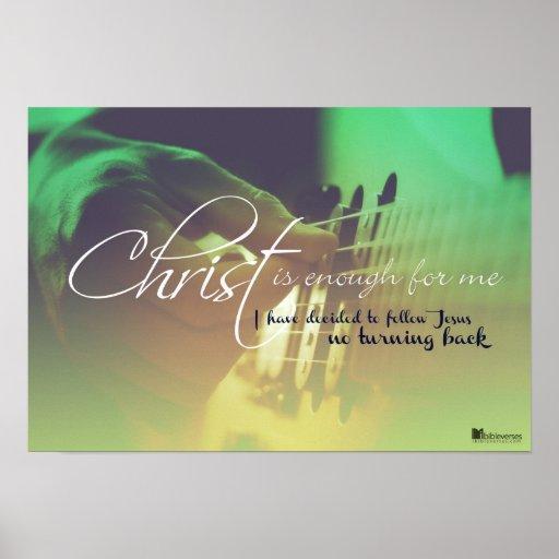 Christus ist genug für m posterdrucke